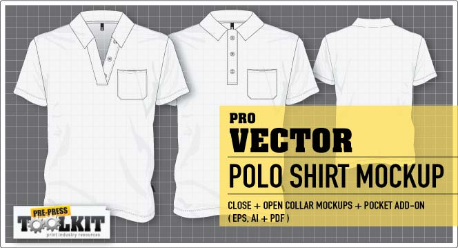 The ultimate vector garment mockup kit is here for Free polo shirt mockup