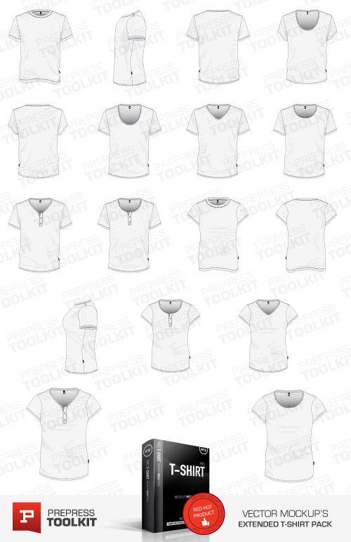 Ultimate Vector Garment Mockup Kit