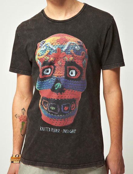 Insight knitted Skull T-shirt design inspiration