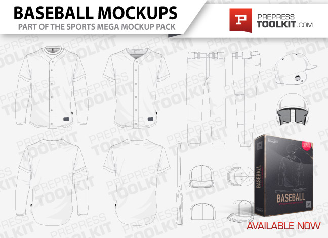 Baseball uniform mockup template vector