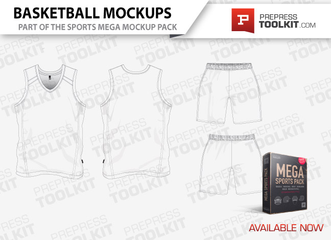 Basketball uniform mockup template vector