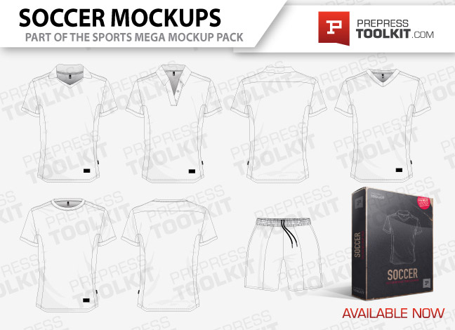 Soccer uniform mockup template vector