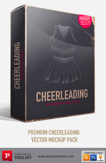 Cheerleading Sports Pack – Vector Mockup Templates