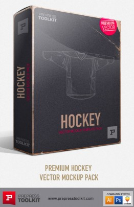 Hockey Vector Mockup Templates Ice Hockey