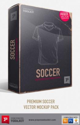 Football Soccer uniform Vector Mockup Templates