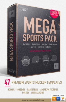 Vector Sports Apparel Mockup Template Pack