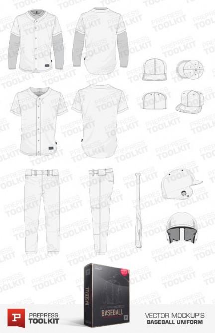 baseball uniform vector mockup template pack. Black Bedroom Furniture Sets. Home Design Ideas