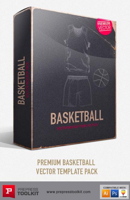 basketball jersey and basketball uniform vector mockup template pack