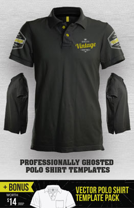 custom polo shirt template psd mens womens