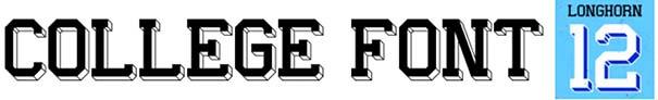 College Font 06 Longhorn