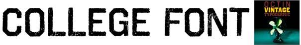 College Font 37 Octin Vintage