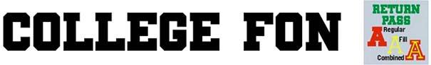 College Font 47 Return Pass JNL