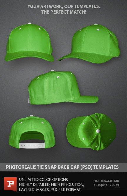 Snapback Cap Template (PSD)
