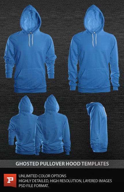 Photorealistic Custom Raglan Sleeve Pullover Hoodie Template PSD