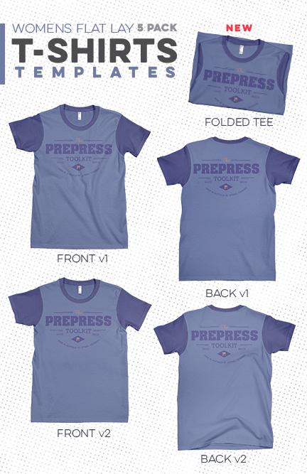 Women\'s T-Shirt Flat Lay Template Pack