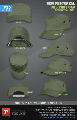 Military Cap hat style mockup template