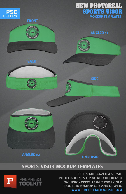 New Sports Visor Cap Template Photoshop Psd 5a477531cde