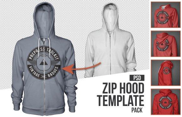 Mens Zip up hoodie mockup template psd