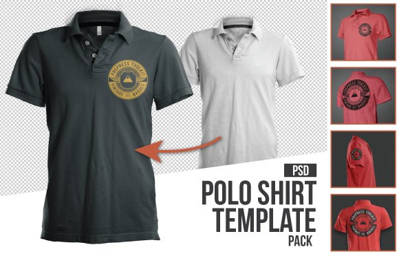 10 must have mockup templates for t shirt and apparel design for Free polo shirt mockup