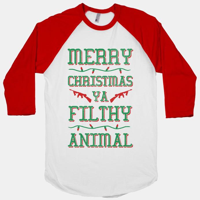 Merry Christmas Ya Filthy Animal Jumper Womens Long