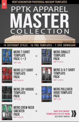 mens womems apparel templates master collection Main IMG